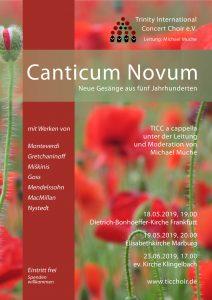 Plakat Canticum Novum 2019